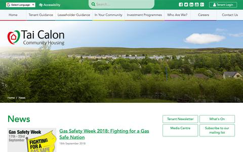 Screenshot of Press Page taicalon.org - News - Tai Calon Community Housing - captured Oct. 19, 2018
