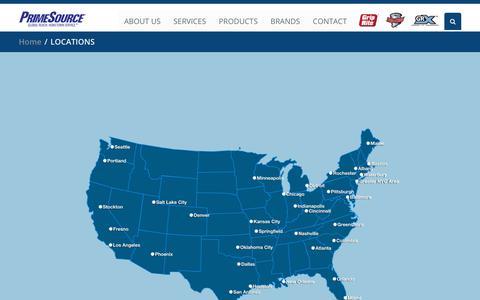 Screenshot of Locations Page primesourcebp.com - PrimeSource - captured Nov. 11, 2018