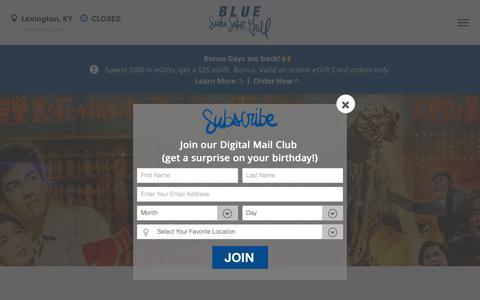 Screenshot of Press Page bluesushisakegrill.com - Sushi & Such - Blue Sushi Sake Grill - captured Nov. 6, 2018