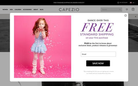 Screenshot of About Page capezio.com - History Page - captured April 9, 2019
