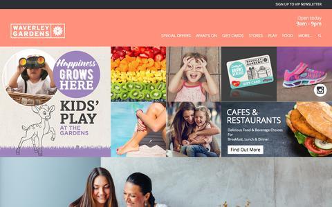 Screenshot of Home Page waverleygardens.com.au - Waverley Gardens Shopping Centre - captured March 9, 2018