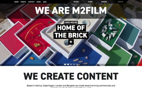 Screenshot of Home Page m2film.dk - M2Film   Film company in Aarhus, Copenhagen and Bangkok - captured July 24, 2018