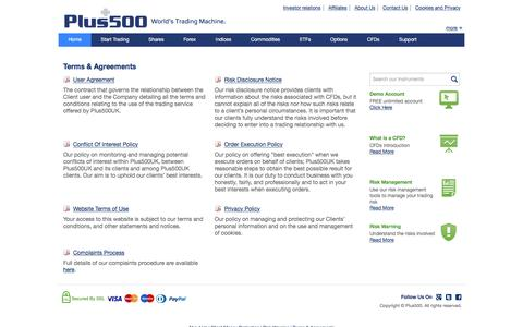Plus500 | Terms & Agreements