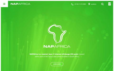 Screenshot of Home Page napafrica.net - NAPAfrica | Neutral, Layer 2 Internet eXchange (IX) Point - captured Nov. 2, 2017