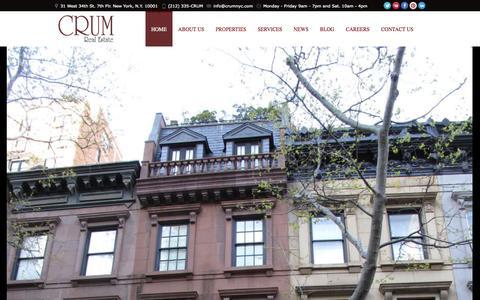 Screenshot of Home Page crumnyc.com - Real Estate New York City | CRUM - captured Oct. 1, 2014