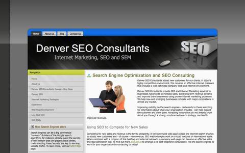 Screenshot of Home Page denver-seo-consultants.com - Denver SEO Consultants   Low Cost Search Engine Optimization - captured Feb. 9, 2016