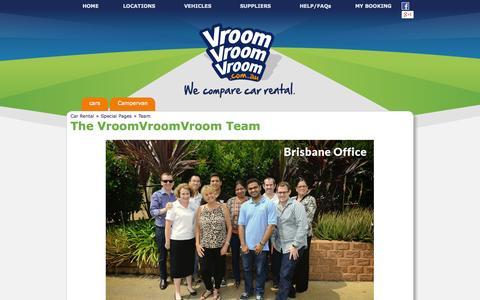 Screenshot of Team Page vroomvroomvroom.com.au - Our Vroomsters - VroomVroomVroom - captured Oct. 26, 2014
