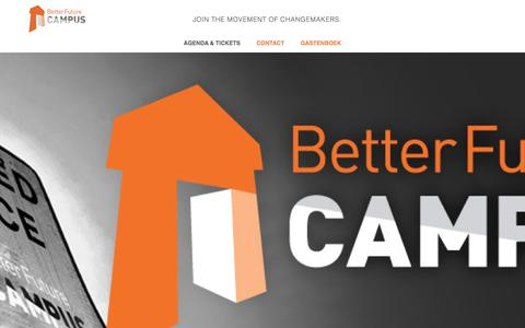 Screenshot of Home Page betterfuturecampus.nl - Better Future Campus - captured June 1, 2017