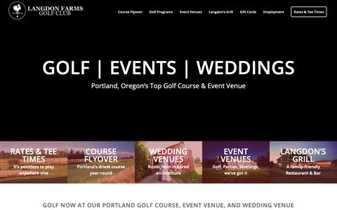 Screenshot of Home Page langdonfarms.com - Portland Golf | Public Golf Course & Wedding Venue | Langdon Farms - captured Sept. 27, 2018
