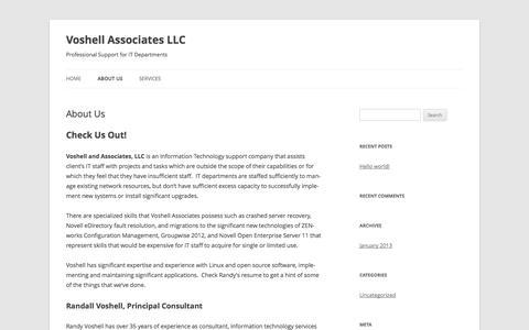 Screenshot of About Page voshellassoc.com - About Us | Voshell Associates LLC - captured Oct. 26, 2014