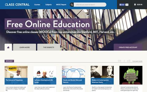 Free online courses/MOOC aggregator - Class Central