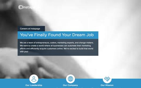 Screenshot of Jobs Page instapage.com - Jobs � Instapage - captured Dec. 12, 2015