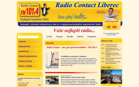 Screenshot of Home Page rcl.cz - Aktuality - captured June 22, 2015