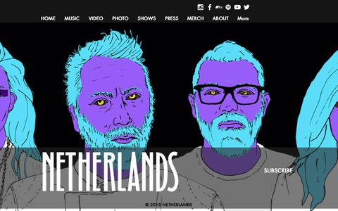 Screenshot of Home Page netherlandsband.com - netherlandsband - captured June 28, 2018