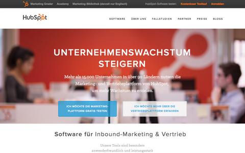 Screenshot of Home Page hubspot.de - HubSpot | Die All-in-one-Software für erfolgreiches Inbound-Marketing - captured Nov. 22, 2015