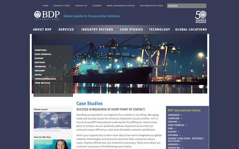 Screenshot of Case Studies Page bdpinternational.com - Case Studies - BDP InternationalBDP International - captured May 31, 2017