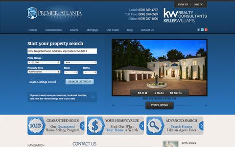 Screenshot of Contact Page premieratlantarealestate.com - Premier Atlanta Real Estate - Contact Us - captured Sept. 23, 2014