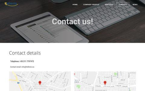 Screenshot of Contact Page hellenix.eu - Contact Hellenix - Hellenix | Industrial Relations Advisors - captured July 18, 2018