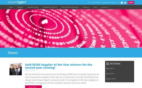 Screenshot of Case Studies Page expertagent.co.uk - News | Expert Agent - captured Sept. 23, 2014