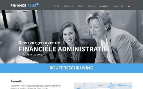 Screenshot of Contact Page financeplus.nl - Contact-en-Routebeschrijving - FinancePLus - captured Oct. 7, 2017