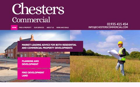 Screenshot of Home Page chesterscommercial.com - Chesters Commercial | A leading independent commercial property practice regulated by the RICS - captured Oct. 2, 2014