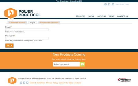 Screenshot of Login Page powerpractical.com - User account   Power Practical - captured Sept. 12, 2014