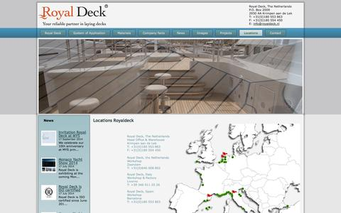 Screenshot of Locations Page royaldeck.nl - Locations - Royal Deck - captured Oct. 1, 2014