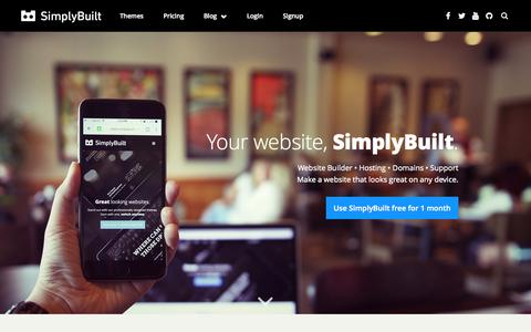 SimplyBuilt: Domains, DIY Website Builder, and Hosting all in one place. | Make a Website YouŐll Love