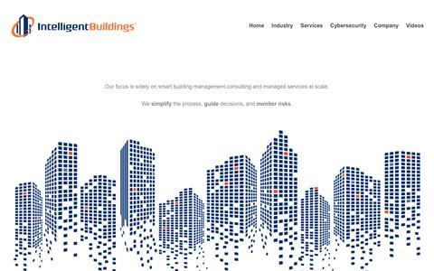 Screenshot of Home Page intelligentbuildings.com - Home - Intelligent Buildings - captured June 7, 2019