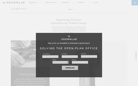 Screenshot of About Page krownlab.com - Extraordinary Products for Everyday Use   Krownlab - captured Aug. 9, 2016
