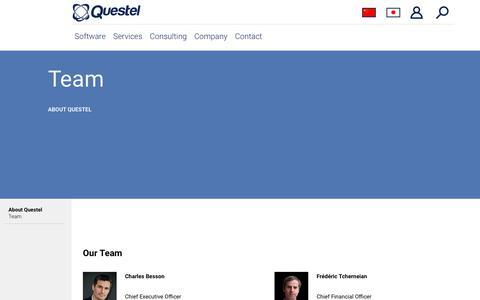 Screenshot of Team Page questel.com - Team - Questel - captured Sept. 30, 2018