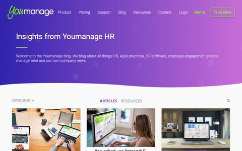 Screenshot of Blog youmanage.co.uk - Human Resources Articles Blog / Best HR Blog - captured Oct. 20, 2018