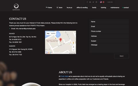 Screenshot of Contact Page puntoitalia.asia - Punto Italia - contact - captured Feb. 2, 2016
