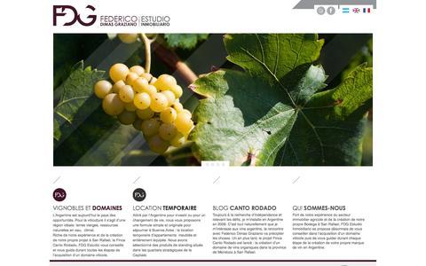 Screenshot of Home Page fdgestudio.com - FDG: Agence immobilière argentine - captured Feb. 9, 2016