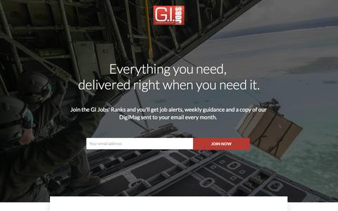 GI Jobs - Join The Ranks