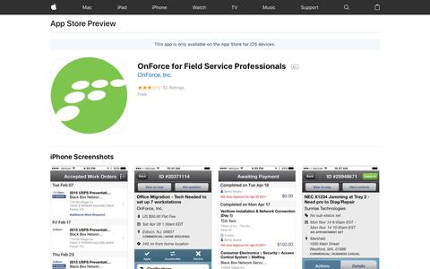 OnForce for Field Service Professionals on the App Store