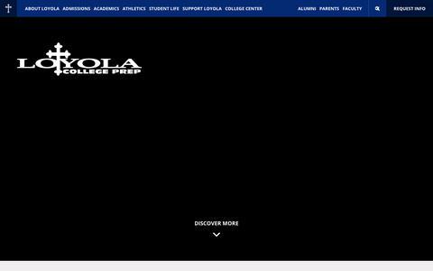 Screenshot of Home Page loyolaprep.org - Home - Loyola College Prep - captured Sept. 10, 2017