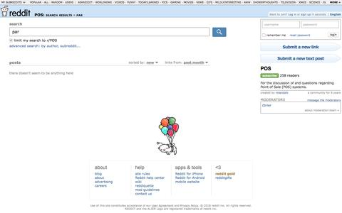 POS: search results - par