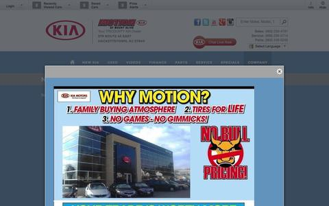 Screenshot of Press Page motionkia.com - Motion Kia | Vehicles for sale in Hackettstown, NJ 07840 - captured Oct. 7, 2014