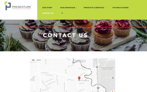 Screenshot of Contact Page presenture.com - Contact Presenture | The National Foodservice Agency - captured Nov. 11, 2016