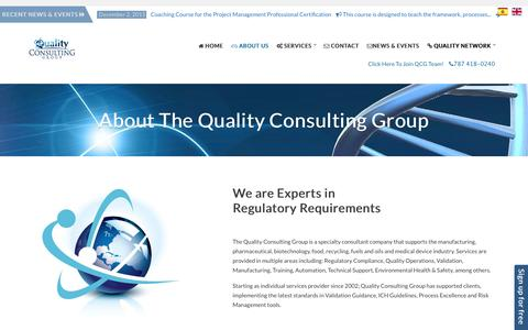 Screenshot of About Page qualityconsultinggrouppr.com - About The Quality Consulting Group | Quality Consulting Group - captured Jan. 29, 2016
