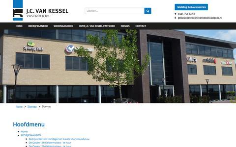 Screenshot of Site Map Page jcvankesselvastgoed.nl - Sitemap - captured July 26, 2018
