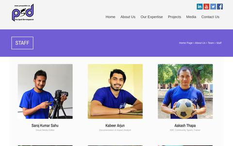Screenshot of Team Page prosportdev.in - Pro Sport Development - captured Sept. 29, 2018