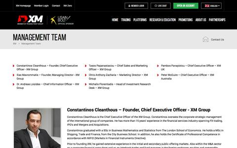 Screenshot of Team Page xm.com - The XM Management Team - Our People - captured Jan. 27, 2017