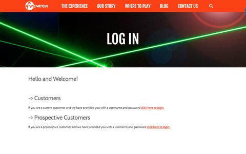 Screenshot of Login Page funovation.com - Log in - Funovation - captured Aug. 5, 2016