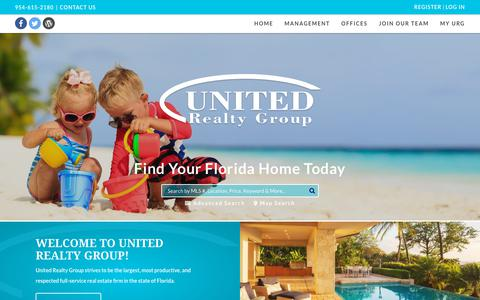 Screenshot of Home Page urgfl.com - Welcome to United Realty Group! - United Realty Group - captured Oct. 19, 2018