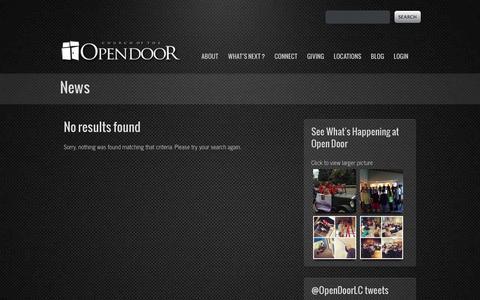 Screenshot of Press Page opendoor.tv - Church of the Open Door, Elyria Ohio, Lorain CountyOpen Door - captured Oct. 2, 2014