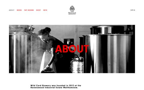 Screenshot of About Page wildcardbrewery.co.uk - About — Wild Card Brewery - captured Nov. 19, 2018