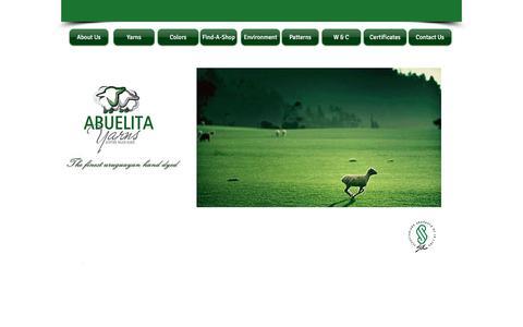 Screenshot of Home Page abuelitayarns.com - Abuelita Yarns (Official Site) - captured July 28, 2018