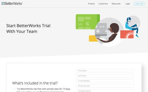 Start Your Risk Free Trial for 14 Days - BetterWorks